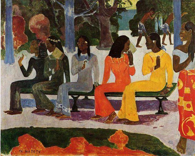 жанровая картина Ta Matete ( рынок) :: Поль Гоген - Paul Gauguin фото