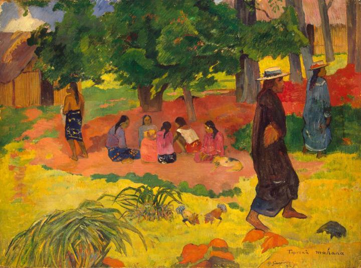 жанровая картина Taperaa Mahana  ( Ранний вечер  ) :: Поль Гоген - Paul Gauguin фото