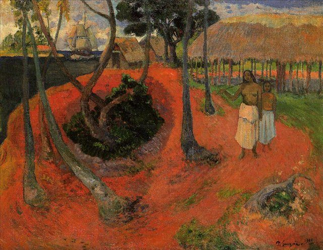 жанровая картина Идиллия на Таити :: Поль Гоген - Paul Gauguin фото