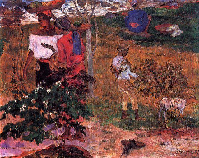 жанровая картина Сбор плодов :: Поль Гоген - Paul Gauguin фото