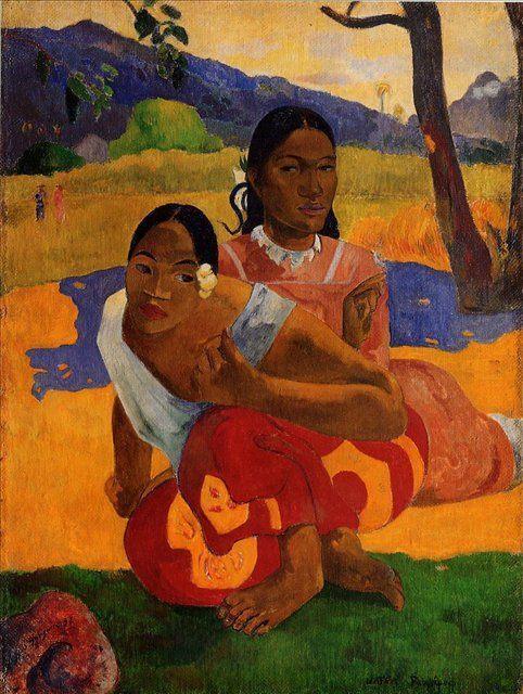жанровая картина < Nafeaffaa Ipolpo  ( Когда выйдешь замуж? ) > :: Поль Гоген - Paul Gauguin фото