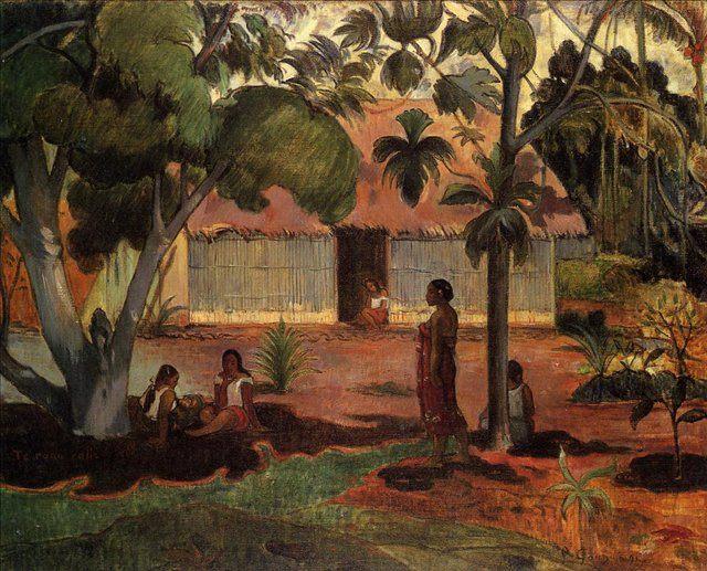 жанровая картина < Te Ra'au Rahi (возле хижины ( большое дерево )) > :: Поль Гоген - Paul Gauguin фото