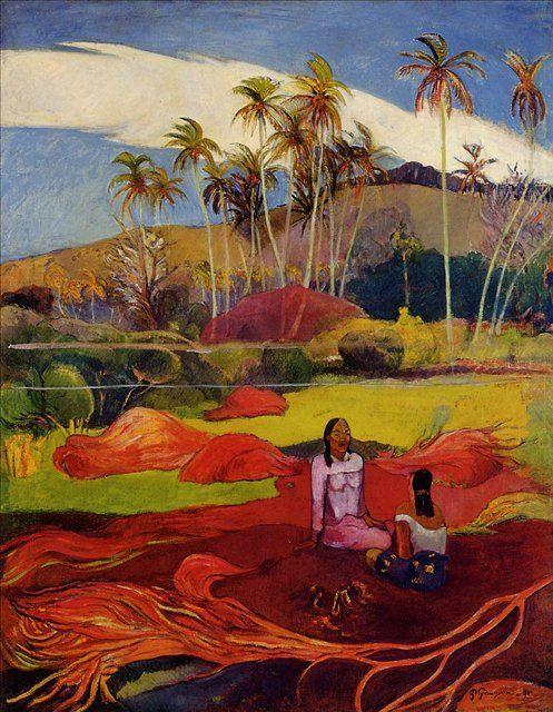 жанровая картина < Таитянки под деревом > :: Поль Гоген - Paul Gauguin фото