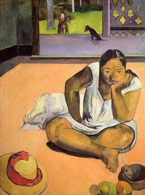 картина  < Te Faaturuma (Задумчивая Женщина)  > :: Поль Гоген - Paul Gauguin фото