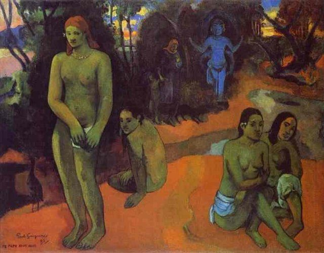 жанровая картина < Te papa nave nave ( Манящие Воды ) > :: Поль Гоген - Гоген Поль ( Paul Gauguin ) фото