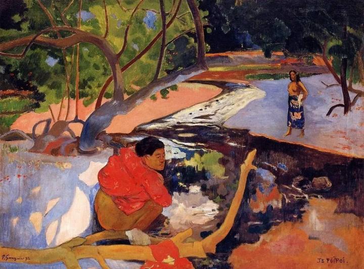 жанровая картина  Утро (Te Poipoi ) - Paul Gauguin фото