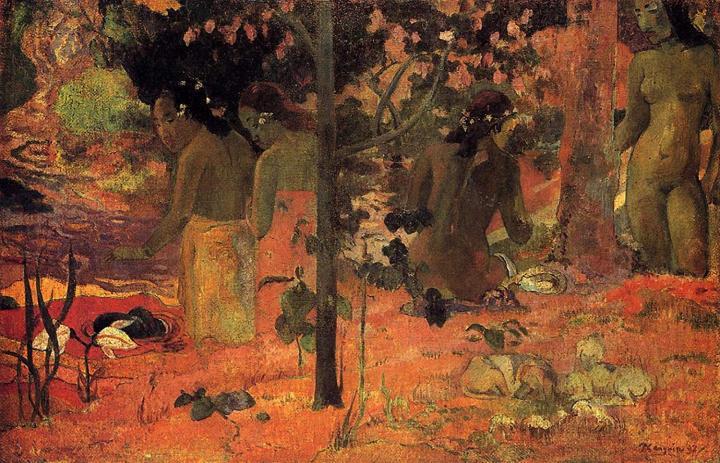 жанровая картина Купальщицы :: Поль Гоген - Paul Gauguin фото