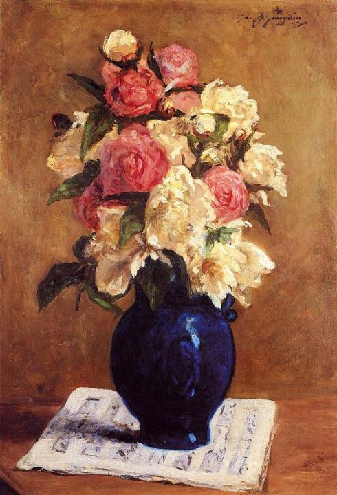 натюрморт - цветы < Букет пионов > :: Поль Гоген - Paul Gauguin фото
