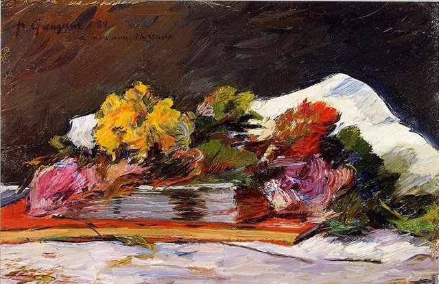 натюрморт - цветы < Букет цветов > :: Поль Гоген - Paul Gauguin фото