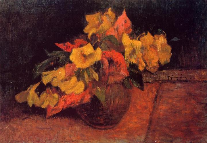 натюрморт Первоцветы в вазе :: Поль Гоген - Paul Gauguin фото
