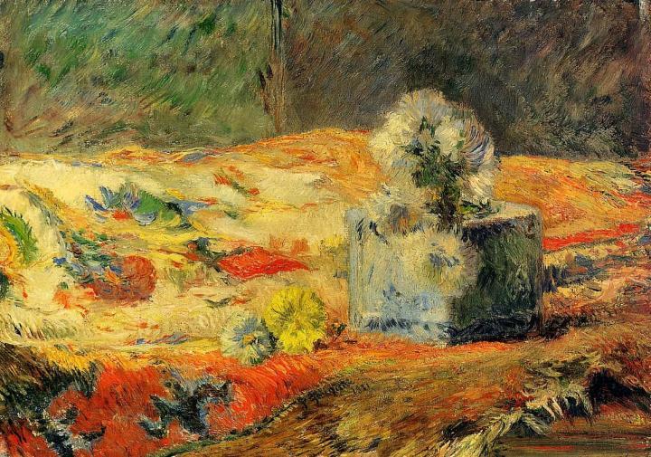 картина натюрморт  < Цветы на ковре > :: Поль Гоген - Paul Gauguin фото