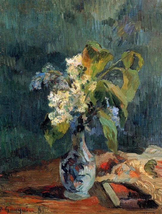 картина цветы < Букет лилий > :: Поль Гоген - Paul Gauguin фото