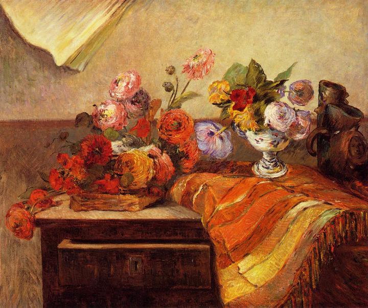 натюрморт Ваза и букеты :: Поль Гоген - Paul Gauguin фото