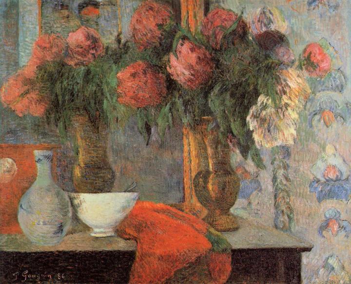 картина цветы < Натюрморт с белыми сосудами > :: Поль Гоген - Paul Gauguin фото