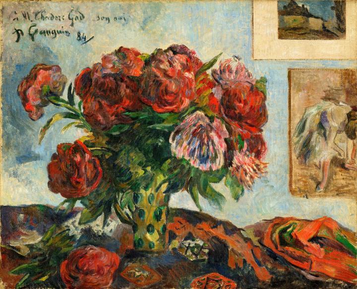 натюрморт цветы  < Ваза с пионами > :: Поль Гоген - Paul Gauguin фото