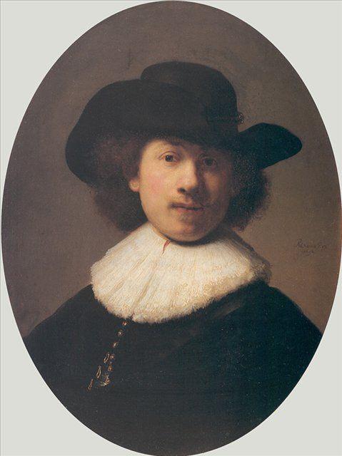 < Автопортрет в широкополой шляпе > :: Харменс ван Рейн Рембрандт - Rembrandt фото