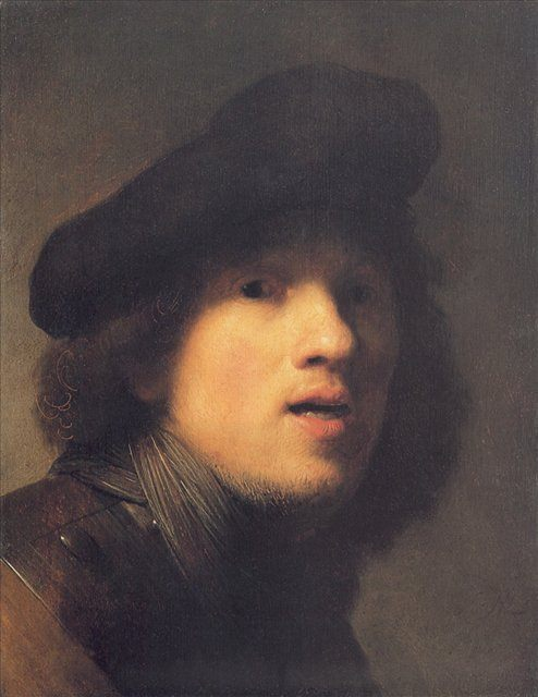 < Автопортрет в берете, с горжеткой > :: Харменс ван Рейн Рембрандт - Rembrandt (Рембрандт) фото
