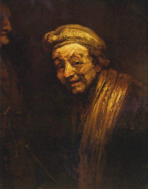 < Автопортрет с муштабелем > :: Харменс ван Рейн Рембрандт - Rembrandt фото