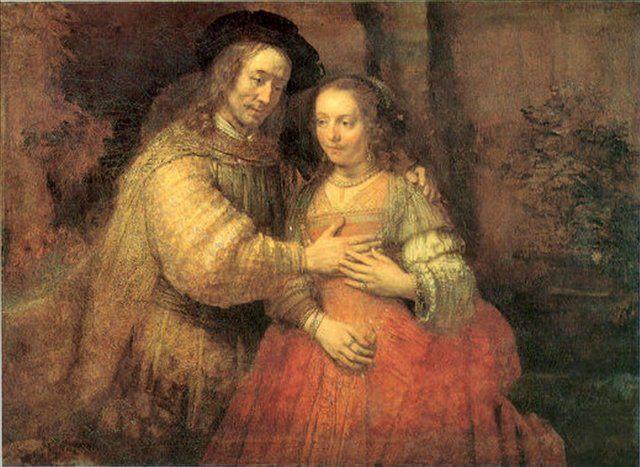 парный портрет Еврейская невеста :: Харменс ван Рейн Рембрандт - Rembrandt фото