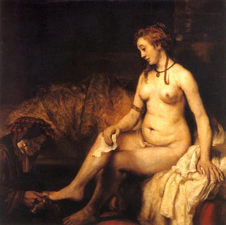 < Вирсавия с письмом царя Давида > :: Харменс ван Рейн Рембрандт - Rembrandt фото