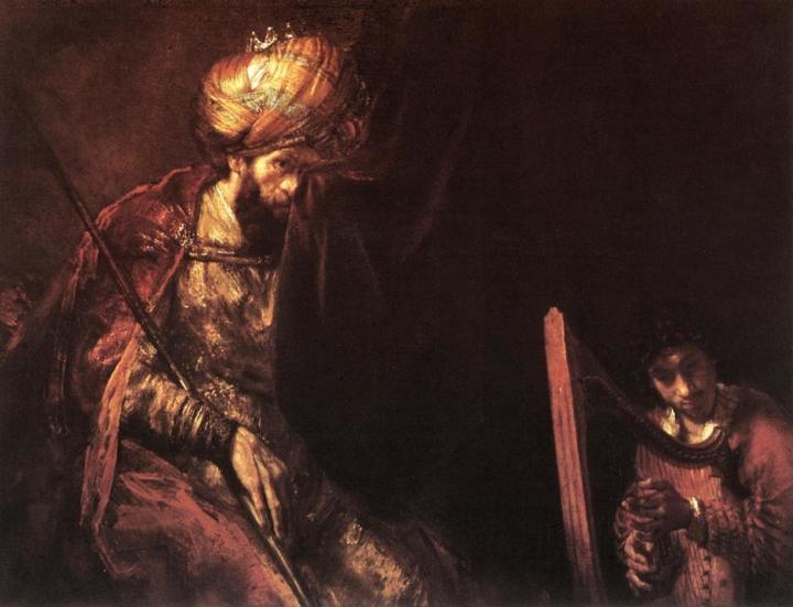 описание картины Давид играет царю Саулу :: Харменс ван Рейн Рембрандт - Rembrandt фото