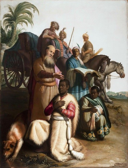 Крещение евнуха :: Харменс ван Рейн Рембрандт - Rembrandt фото