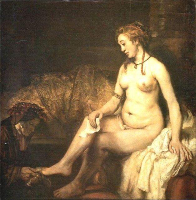 Вирсавия, читающая письмо Короля Давида :: Харменс ван Рейн Рембрандт, описание картины - Rembrandt фото