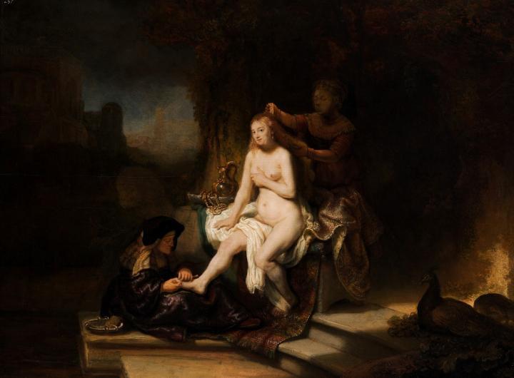 картина Вирсавия за совершением туалета :: Харменс ван Рейн Рембрандт - Rembrandt (Рембрандт) фото