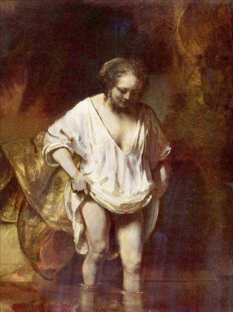 картина Хендрикье на купании :: Харменс ван Рейн Рембрандт - Rembrandt фото