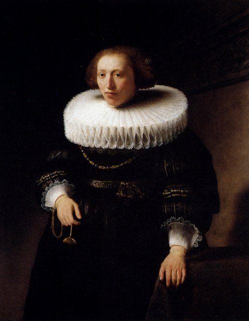 Портрет стоящей женщины  :: Харменс ван Рейн Рембрандт - Rembrandt фото