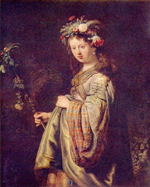 < Флора (портрет Саскии в виде Флоры) > :: Харменс ван Рейн Рембрандт - Rembrandt фото