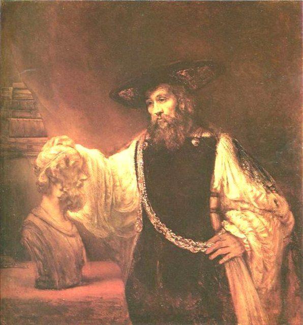 < Аристотель с бюстом Гомера > :: Харменс ван Рейн Рембрандт - Rembrandt фото