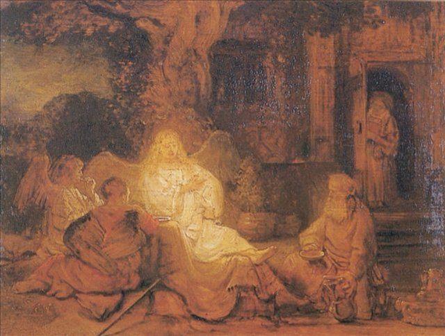 < Авраам и ангелы > :: Харменс ван Рейн Рембрандт - Rembrandt фото