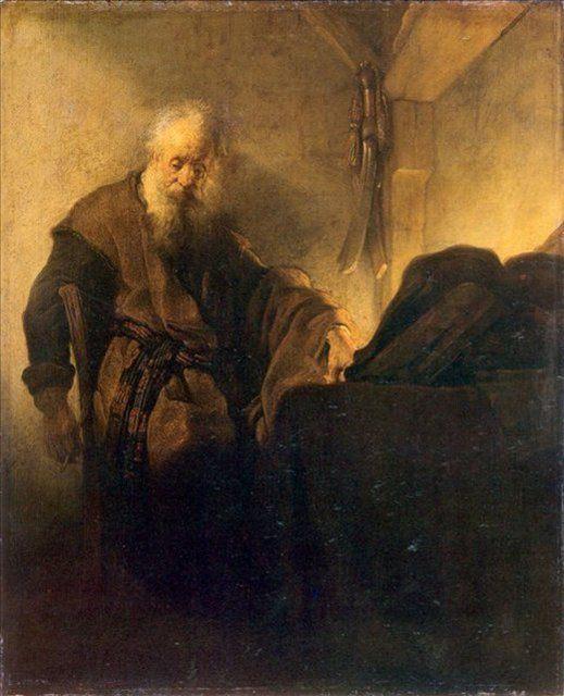 < Святой Павел и его письменный стол > :: Харменс ван Рейн Рембрандт - Rembrandt фото