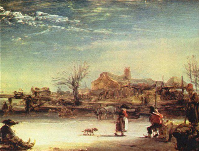 картина < Зимний пейзаж > :: Харменс ван Рейн Рембрандт - Rembrandt (Рембрандт) фото