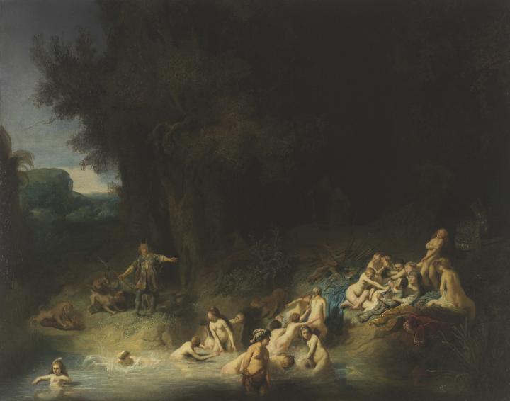 картина < купание Дианы > :: Рембрандт ван Рейн - Rembrandt фото