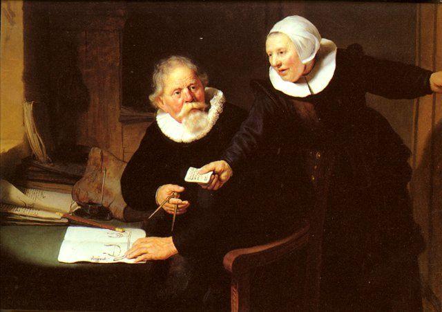 картина групповой портрет < кораблестроитель и его жена > :: Харменс ван Рейн Рембрандт - Rembrandt фото