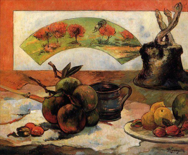 Натюрморт с веером :: Гоген Поль - Paul Gauguin фото