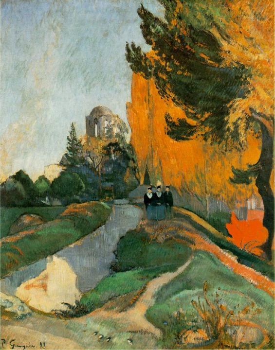 Кладбище Ле Алискамп (Les Alyscamps) :: Поль Гоген [ живопись постимпрессионизм ] - Paul Gauguin фото