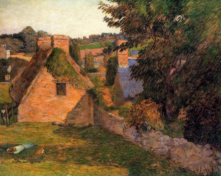 пейзаж Поле Derout-Lollichon  :: Поль Гоген, описание картины  - Paul Gauguin фото