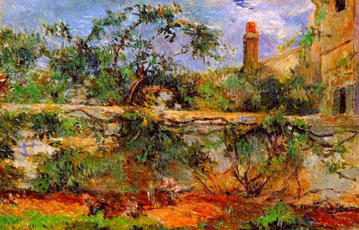 пейзаж Стена :: Поль Гоген [ живопись постимпрессионизм ] - Paul Gauguin фото