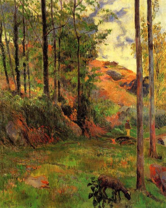 пейзаж Тропа к Эвену :: Поль Гоген [ живопись постимпрессионизм ] - Paul Gauguin фото