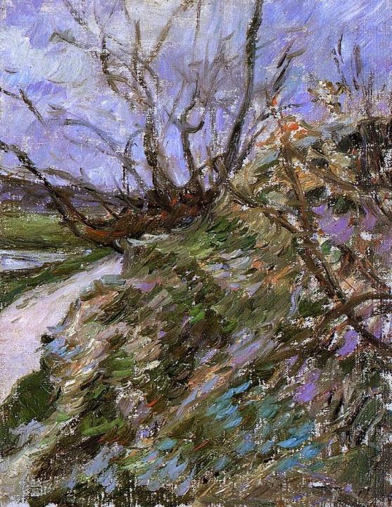 пейзаж Река зимой (штудия) :: Поль Гоген - Paul Gauguin фото