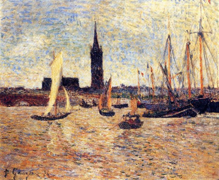Морской пейзаж Гавань Бордо :: Поль Гоген - Paul Gauguin фото