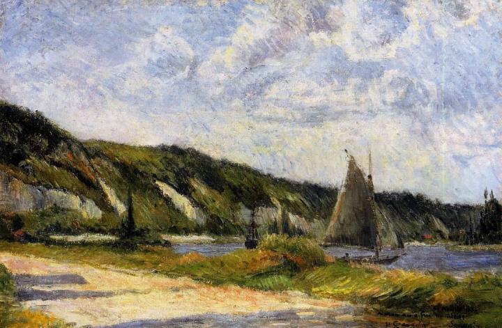 Морской пейзаж Обрывы Лё Бюлль :: Поль Гоген - Paul Gauguin фото