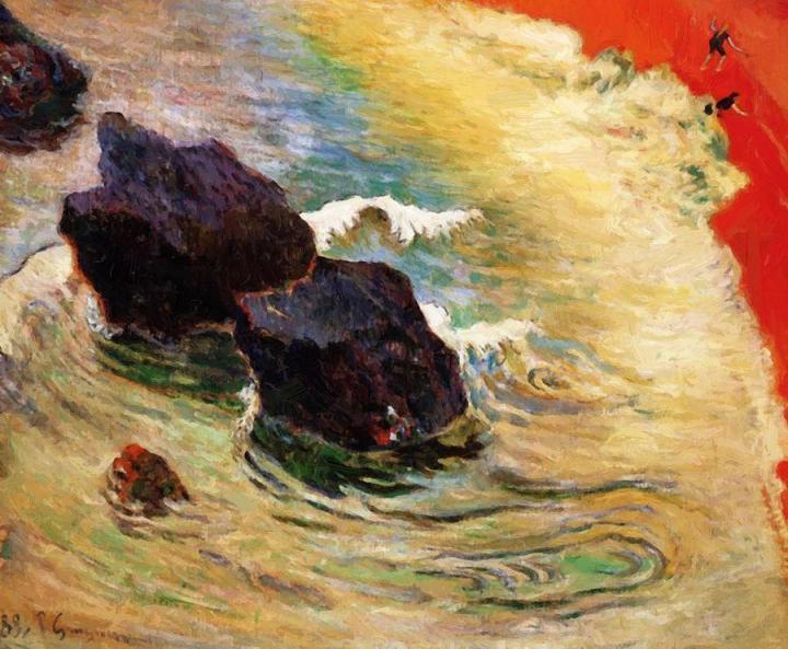 Морской пейзаж Волна :: Поль Гоген, живопись постимпрессионизм - Paul Gauguin фото
