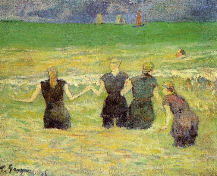 Морской пейзаж Купальщицы, Дьепп :: Поль Гоген - Paul Gauguin фото