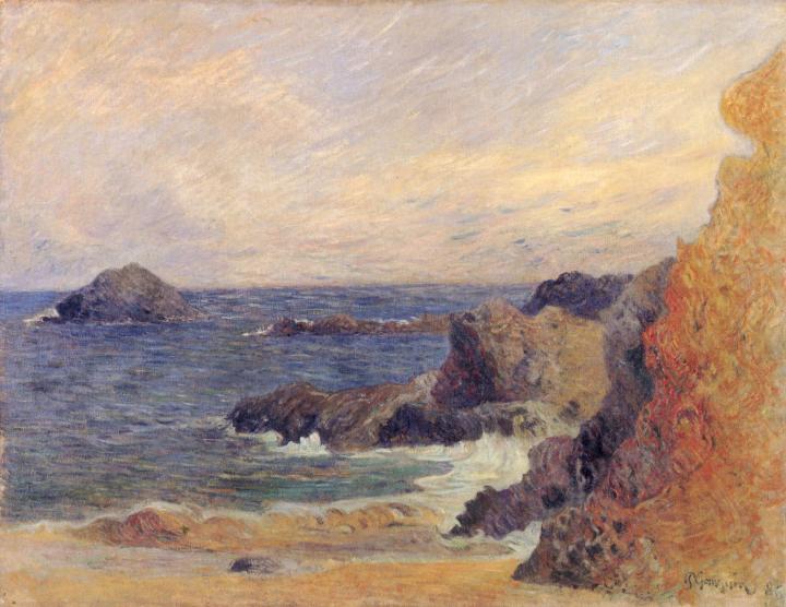 Скалистое морское побережье :: Поль Гоген, плюс статья про подарки - Paul Gauguin фото