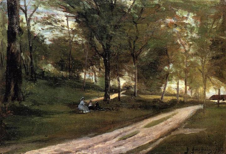 Серийный пейзаж В лесу Сен-Клод (пикник) :: Поль Гоген - Paul Gauguin фото