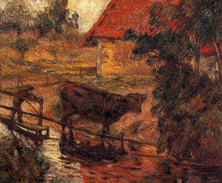 Серийный пейзаж Место водопоя :: Поль Гоген - Paul Gauguin фото